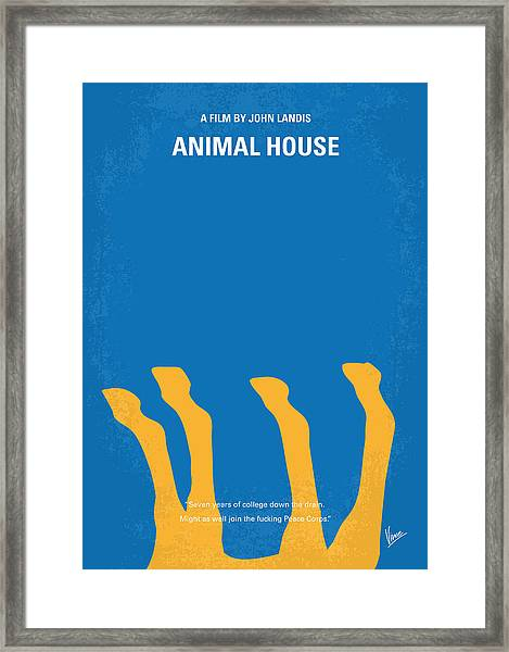 No230 My Animal House Minimal Movie Poster Framed Print