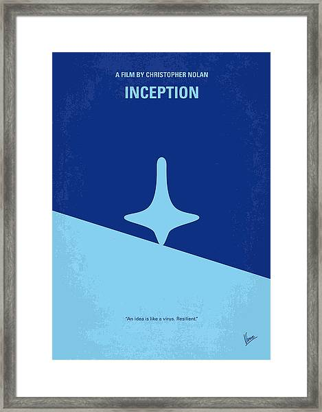 No240 My Inception Minimal Movie Poster Framed Print