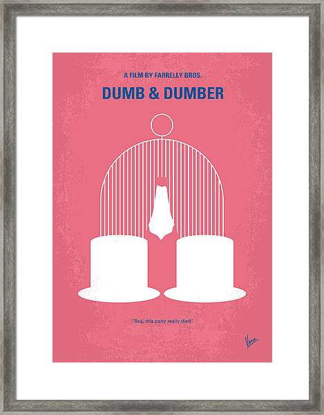 No241 My Dumb And Dumber Minimal Movie Poster Framed Print