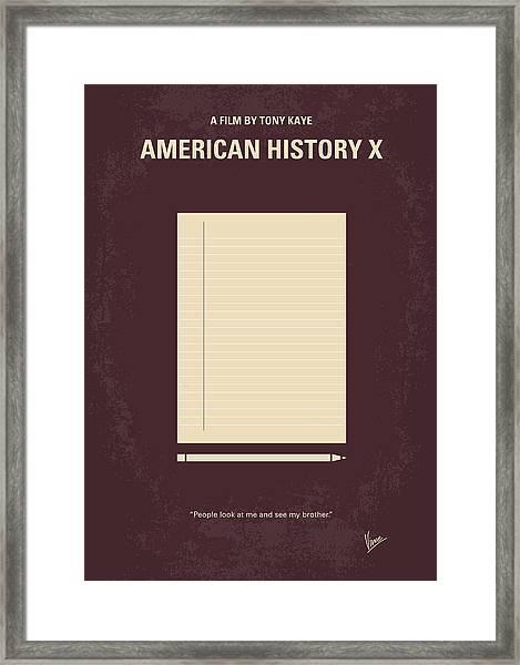 No247 My American History X Minimal Movie Poster Framed Print