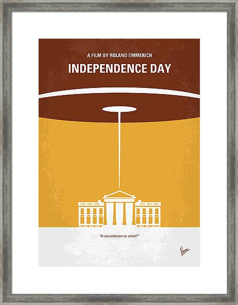 No249 My Independence Day Minimal Movie Poster Framed Print