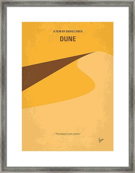 No251 My Dune Minimal Movie Poster Framed Print