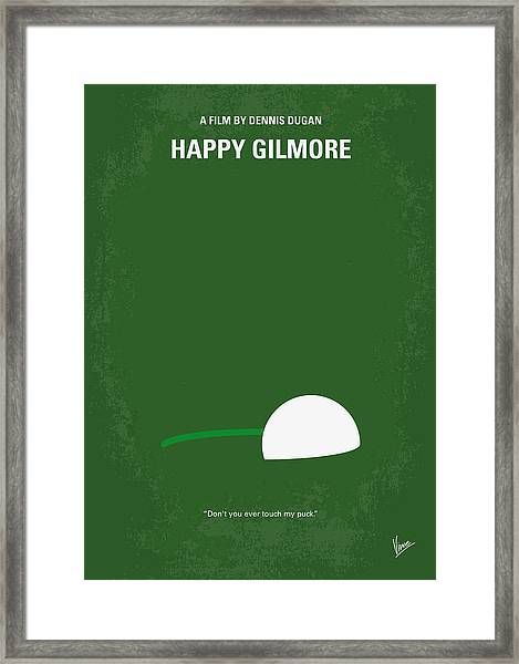 No256 My Happy Gilmore Minimal Movie Poster Framed Print