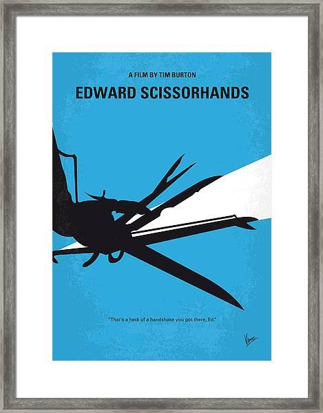 No260 My Scissorhands Minimal Movie Poster Framed Print