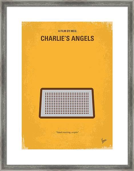 No273 My Charlies Angels Minimal Movie Poster Framed Print