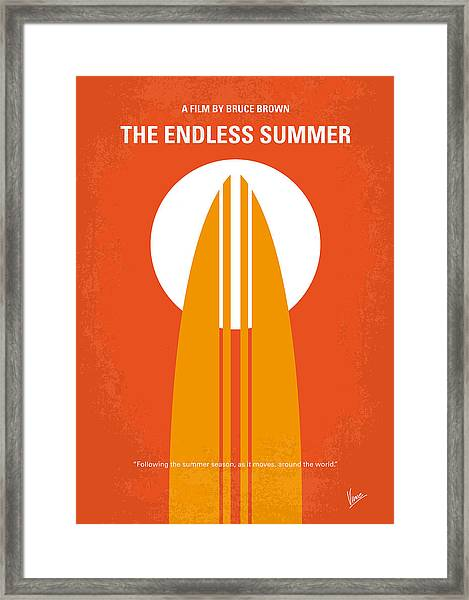 No274 My The Endless Summer Minimal Movie Poster Framed Print