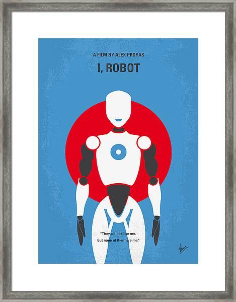 No275 My I Robot Minimal Movie Poster Framed Print
