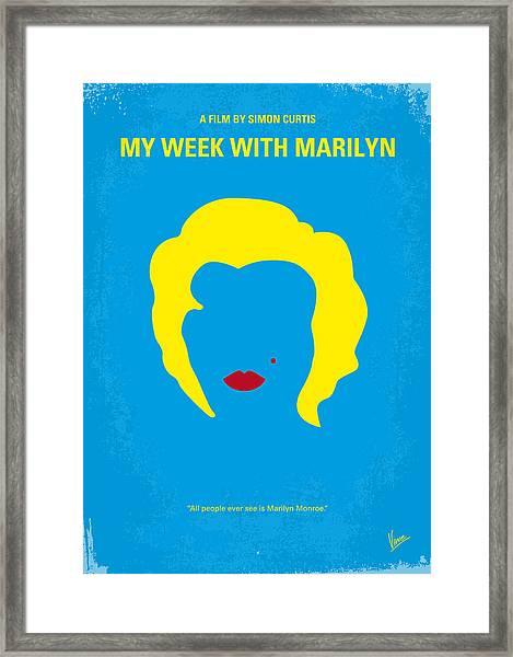 No284 My Week With Marilyn Minimal Movie Poster Framed Print