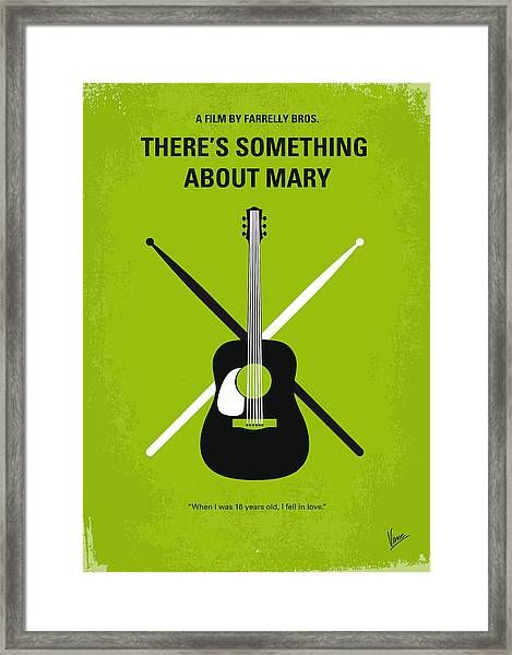 No286 My There's Something About Mary Minimal Movie Poster Framed Print