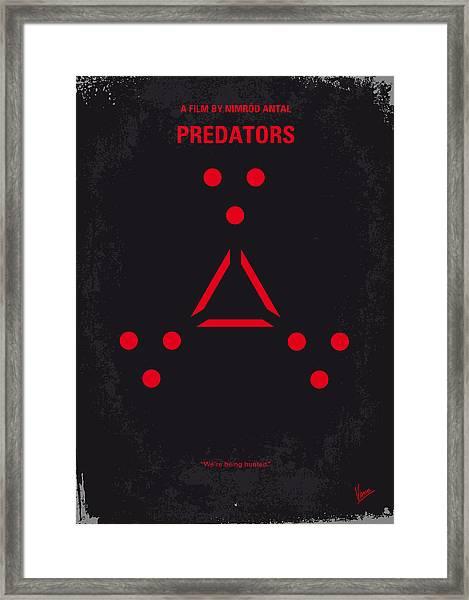 No289 My Predators Minimal Movie Poster Framed Print