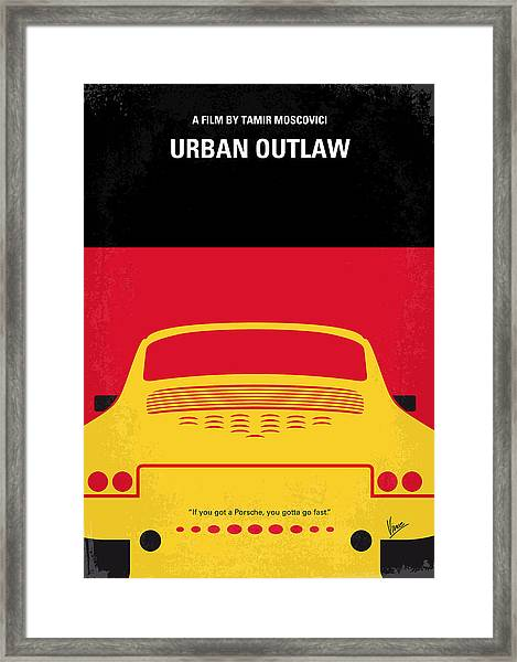 No316 My Urban Outlaw Minimal Movie Poster Framed Print