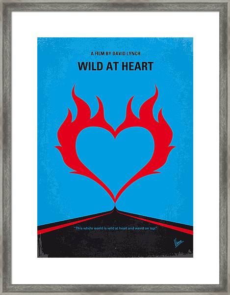 No337 My Wild At Heart Minimal Movie Poster Framed Print