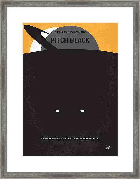 No409 My Pitch Black Minimal Movie Poster Framed Print
