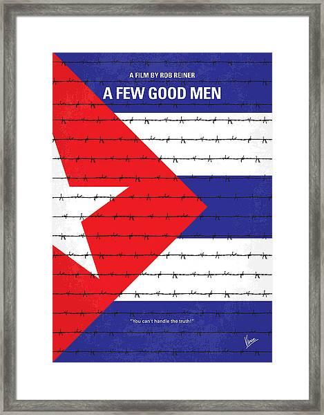 No417 My A Few Good Men Minimal Movie Poster Framed Print