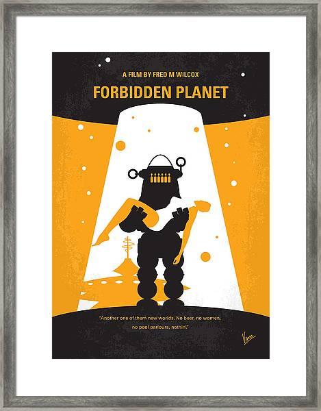 No415 My Forbidden Planet Minimal Movie Poster Framed Print