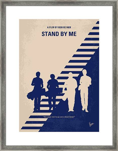No429 My Stand By Me Minimal Movie Poster Framed Print