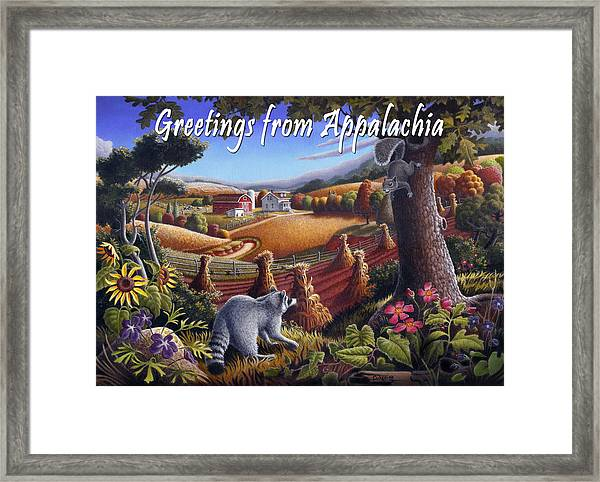 no6 Greetings from Appalachia Framed Print by Walt Curlee
