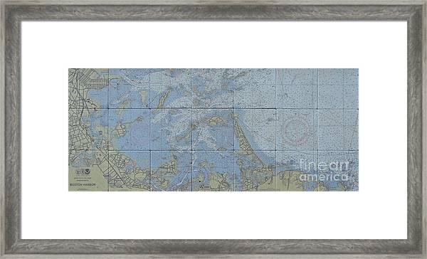 Noaa Chart Of Boston Harbor  Framed Print