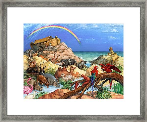 Noah And The Ark Framed Print
