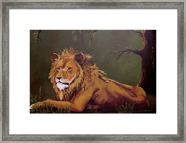 Noble Guardian - Lion Framed Print
