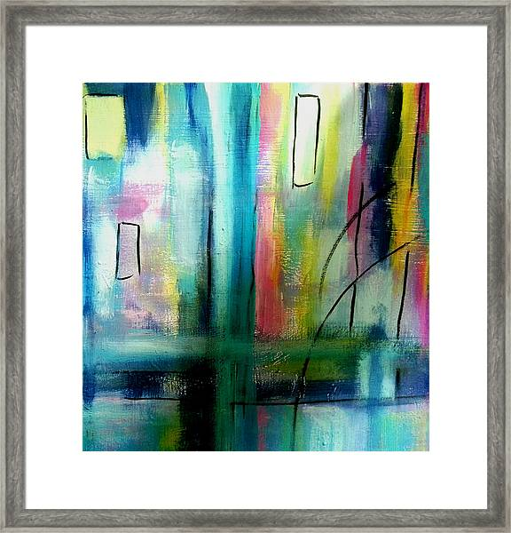 Nocturnal Waterfront Framed Print