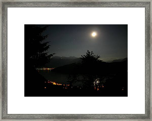 Nocturne In Switzerland Framed Print