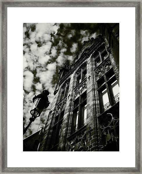 Noir Moment In Brugges Framed Print