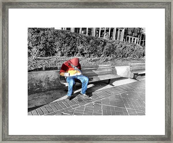 Homeless Man Framed Print