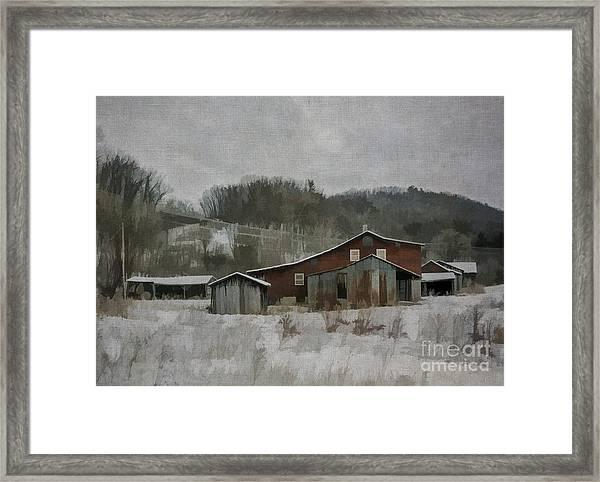 Nonna's Farm Framed Print