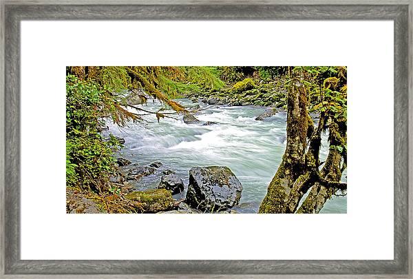 Nooksack River Rapids Washington State Framed Print