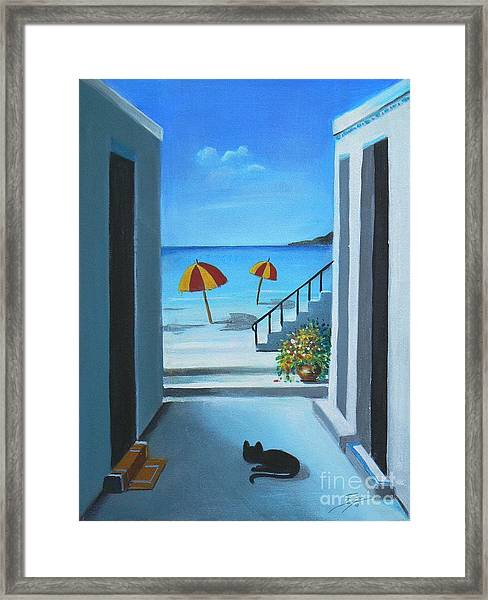 Noon At The Beach Framed Print