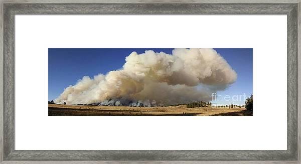 Norbeck Prescribed Fire Smoke Column Framed Print