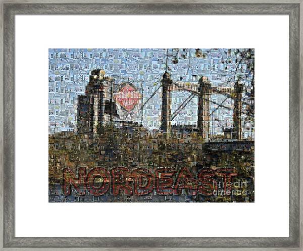 Nordeast Mosaic Framed Print