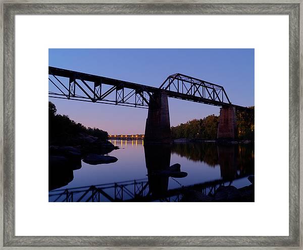 Twilight Crossing Framed Print