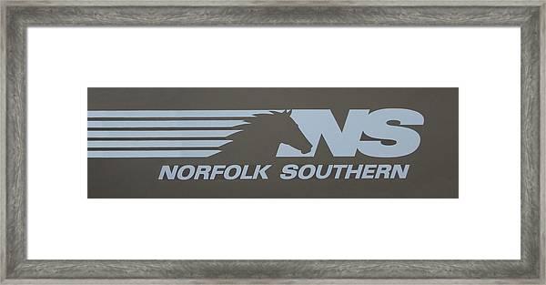 Norfolk Southern Railway Art Framed Print