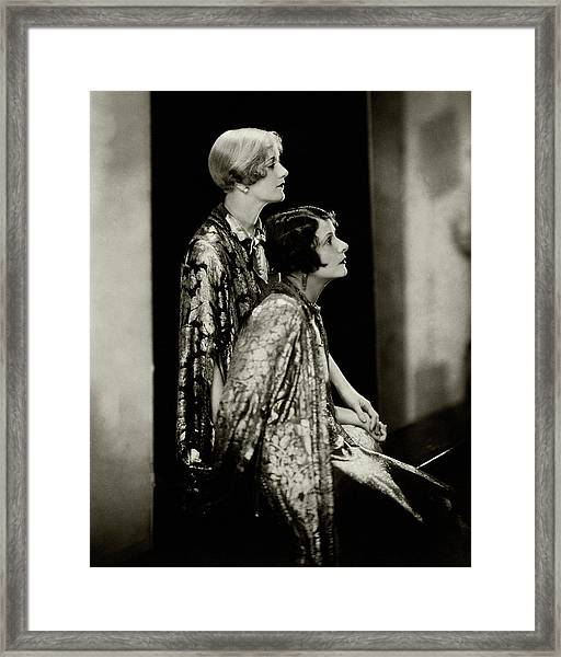 Norma And Constance Talmadge Framed Print