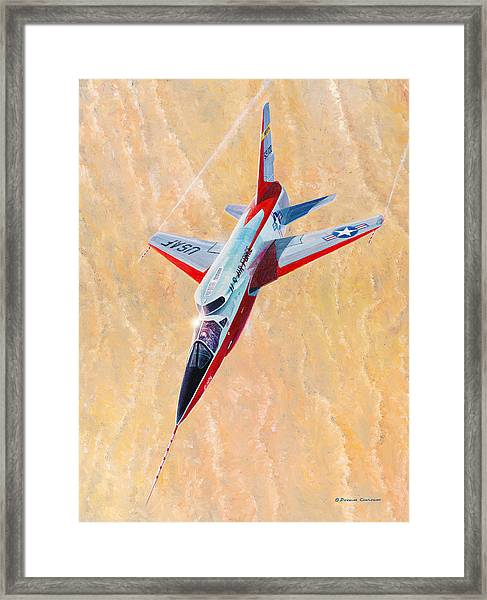 North American F-107a Ultra Sabre Framed Print