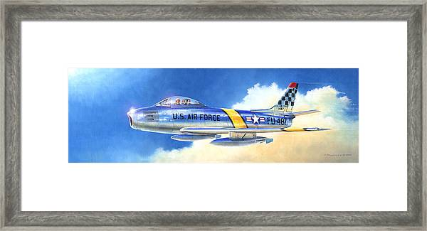 North American F-86f Sabre Framed Print