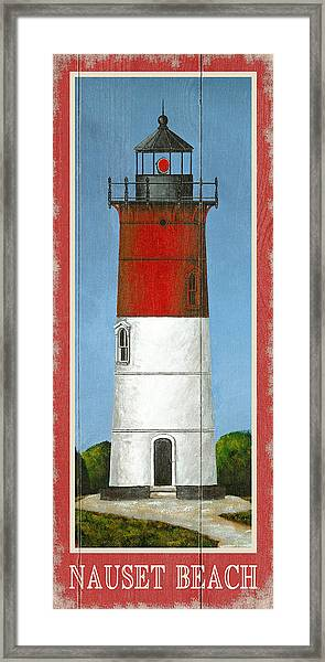 North American Lighthouses - Nauset Framed Print