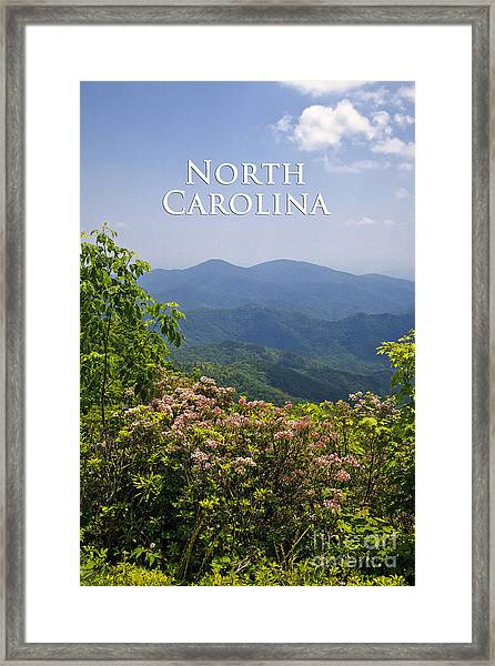 North Carolina Mountains Framed Print