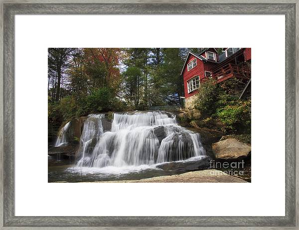 North Carolina Waterfall Framed Print