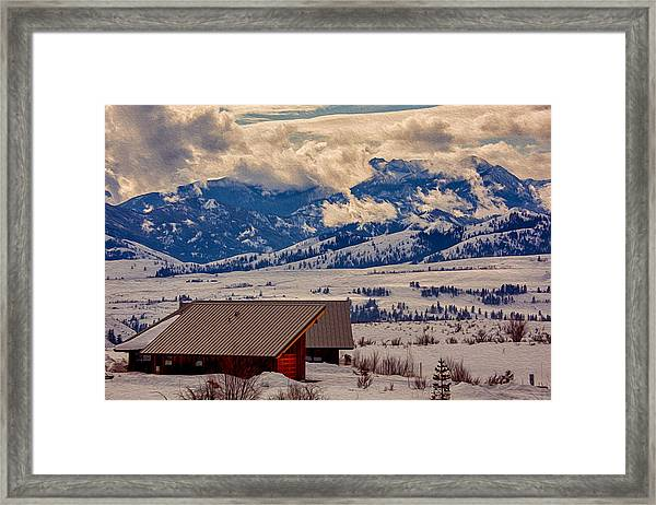 North Cascades Mountain View Framed Print