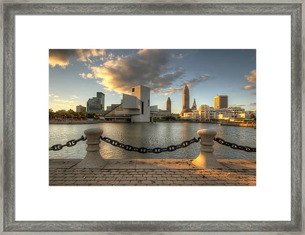 North Coast Harbor In Morning Light Framed Print