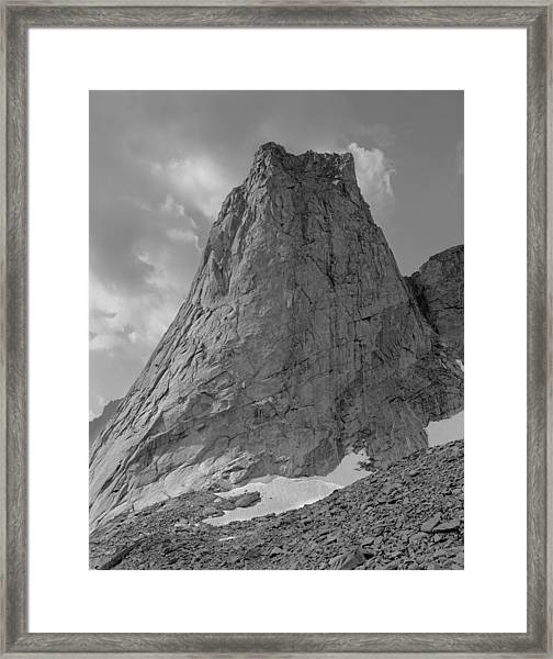 109649-bw-north Face Pingora Peak, Wind Rivers Framed Print