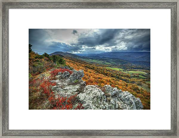 North Fork Mountain Overlook Framed Print