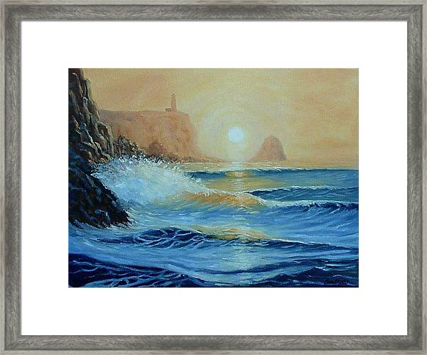 North Head Twilight Mist Framed Print