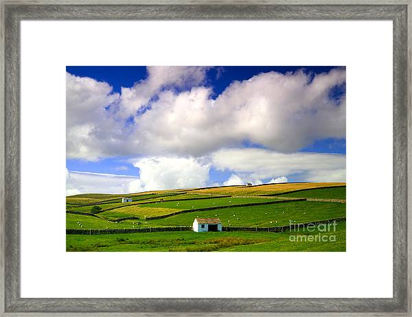 North Pennines Barns In Landscape Framed Print