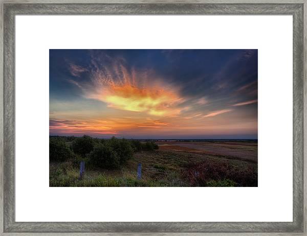 North Refuge Sunrise Framed Print