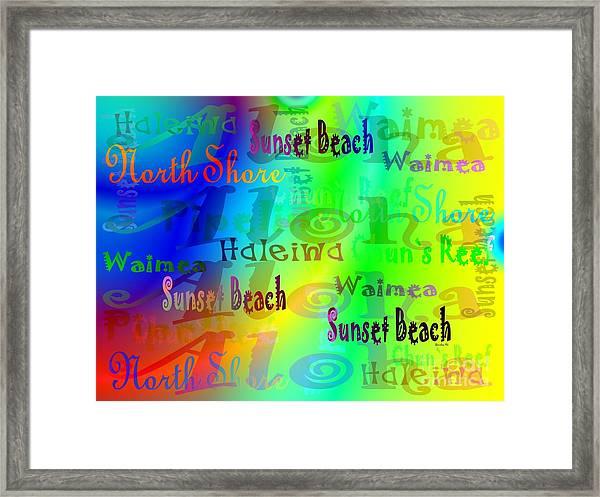 North Shore Beaches Framed Print