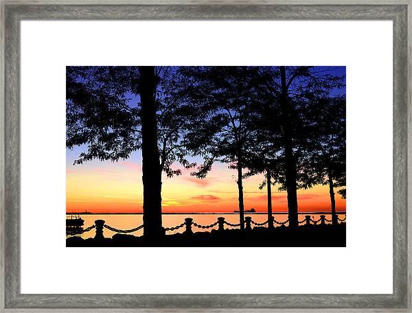 North-shore Sunset Framed Print